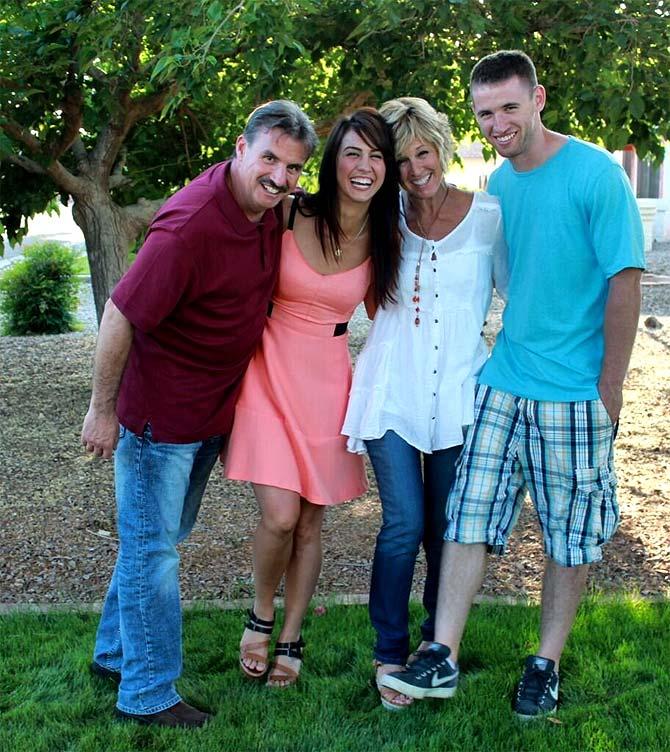 Lauren Gottlieb with her family